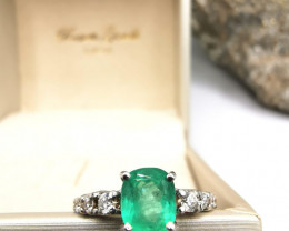 1,31ct Colombian Emerald 18k Solid Gold Ring Colombian Emerald Colombian Em