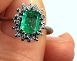 0,39ct Colombian Emerald 18k Solid Gold Ring Colombian Emerald Colombian Em
