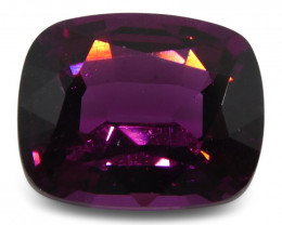 2.38 ct Rhodolite Garnet Cushion- $1 No Reserve Auction