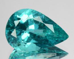 4.48 Cts Natural Apatite (Paraiba Blue Green) Pear Cut Brazil ~AAA~