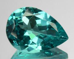 2.48 Cts Natural Apatite (Paraiba Blue Green) Pear Cut Brazil ~AAA~