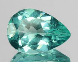 2.07 Cts Natural Apatite (Paraiba Blue Green) Pear Cut Brazil ~AAA~