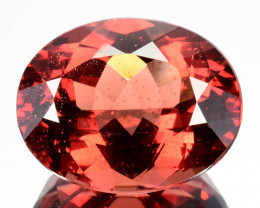 24.68Ct Natural Peach Red Apatite Oval Brazil