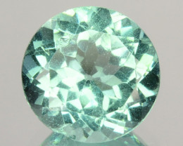 1.78 Cts Natural Apatite (Paraiba Blue Green) Round Cut Brazil