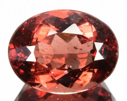 10.90Ct Natural Peach Red Apatite Oval Brazil