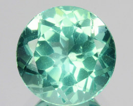1.47 Cts Natural Apatite (Paraiba Blue Green) Round Cut Brazil