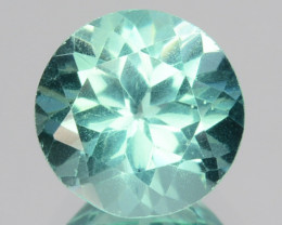 1.42 Cts Natural Apatite (Paraiba Blue Green) Round Cut Brazil