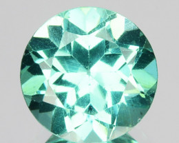 1.48 Cts Natural Apatite (Paraiba Blue Green) Round Cut Brazil