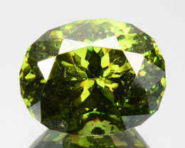3.37Ct Natural Rare Green Sphalerite Oval Balgaria