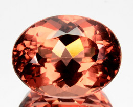 8.28Ct Natural Peach Red Apatite Oval Brazil