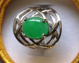 Green Jade Ring 5.25cts.
