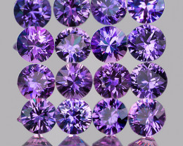 2.40 mm Round Machine Cut 16 pcs Unheated Violet-Blue Sapphire [VVS]