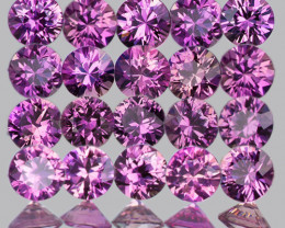 2.20 mm Round Machine Cut 20 pcs Unheated Purplish Pink Sapphire [VVS]