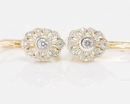 14 kt Gold  Earrings 0.34 ct Diamond - New Jewelry