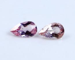 0.65 CT Certified|GGTI~ Pink Morganite Gemstone Pair