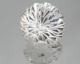 26.18ct  18mm Fancy Cut Rock Crystal Quartz (SKU105)