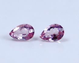 0.60 CT Certified|GGTI~ Pink Morganite Gemstone Pair