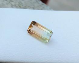 1.55 Ct Natural Bi Color VVS Transparent Tourmaline Gemstone