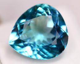 22.03ct Natural Swiss Blue Topaz Pear Cut Lot V5444