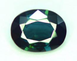 1.50 CT Oval Cut Royal Blue Parti Sapphire Gemstone