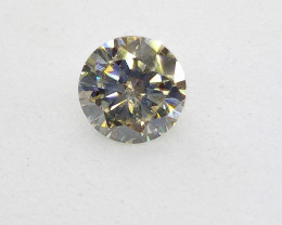 0.70ct Light Green  Diamond , 100% Natural Untreated