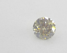 0.51ct Fancy Light Green  Diamond , 100% Natural Untreated