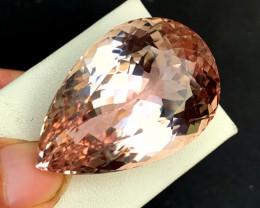 89.15 cts Peach Color Kunzite Gemstone