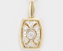 14 kt Gold  Pendant 0.31 ct Diamond - New Jewelry