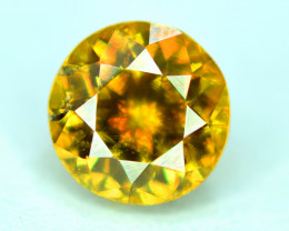 1.00 Carats Round Full Fire Sphene Titanite Gemstone From Pakistan