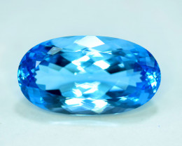 53.05 cts Oval Shape Cut Lovely Blue Topaz Gemstone