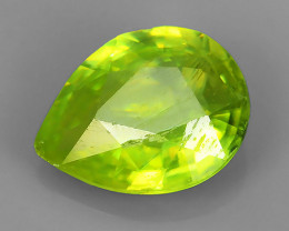 1.15 CTS PEAR CUT 100% NATURAL RARE COLOR MADAGASCAR SPHENE GEM!