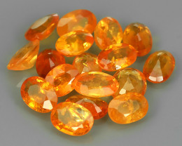 9.75 Cts_Oval Cut_Marvelous_Electric Orange_Africa_Sizzling_Spessarite_~