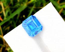 Santa Maria Color Aquamarine Gemstone - 3.60 cts , 11x9x7 mm