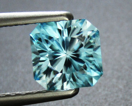Blue Zircon 1.55 ct Custom Cut Blue Zircon Gemstone