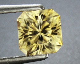 Yellow Zircon 1.94 ct Custom Cut Zircon Gemstone