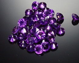 3.84tcw 3mm round Amethyst (41 Count)