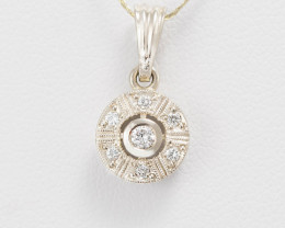 14 kt Gold  Pendant 0.16 ct Diamond - New Jewelry
