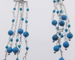 (B3) Brilliant 24.0ct. Natural Turquoise Earrings