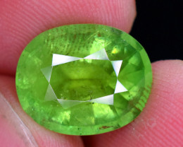 6.75 carats Lush Green color Tourmaline Gemstone From Afghanistan