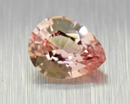 Unheated Padparadscha sapphire, well-cut 0.34ct (01567)