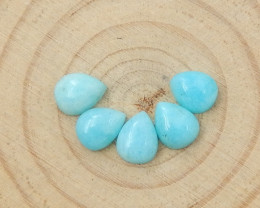 7cts Amazonite Oval Gemstone Cabochons,Cabochons, Polished Gem D150