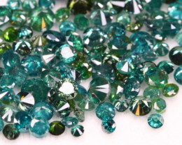 10.20Ct Fancy Green Natural Diamond Auction Lot