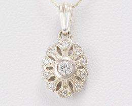 14 kt Gold  Pendant 0.17 ct Diamond - New Jewelry