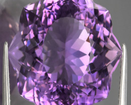 23.40ct A UNIQUE CUT AMETHYST - Collector's Joy VVS TOP GRADE LUSTER