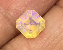 1.51 Carat Crystal Opal Lightning Ridge Master Cut Stunning Color Flash !