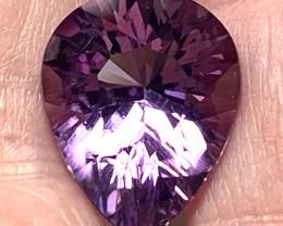 Incredibly beautiful purple Amethyst Brilliant cut Pear gem