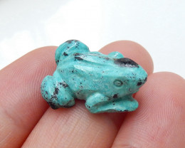 HOT SALE, Carved Gemstone Turquoise Cabochon,Carving Frog H5097