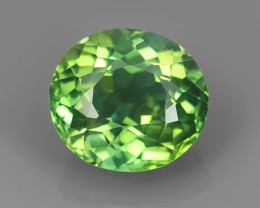 3.80 CTS WORLD CLASS RARE COLLECTION - 100 % NATURAL TOP GREEN APATITE OVAL