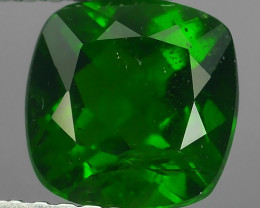 1.55 CTS NATURAL ULTRA RARE CHROME GREEN DIOPSIDE CUSHION RUSSIA