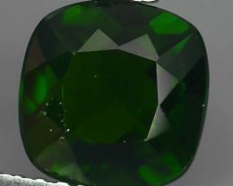 2.00 CTS NATURAL ULTRA RARE CHROME GREEN DIOPSIDE CUSHION RUSSIA